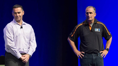 Intels CEO Brian Krzanich (rechts) und FPGA-Chef Daniel McNamara eröffneten das erste  Intel SoC FPGA Developer Forum (ISDF).