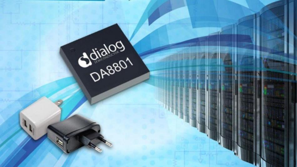 Der DA8801von Dialog Semiconductor umfasst Schaltungselemente wie Gate-Ansteuerung, Pegelumsetzer und mit 650-V-GaN-Leistungsschalter.