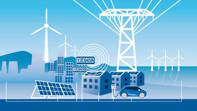 Grafik: Kommunikationsnetz für Smart Grid