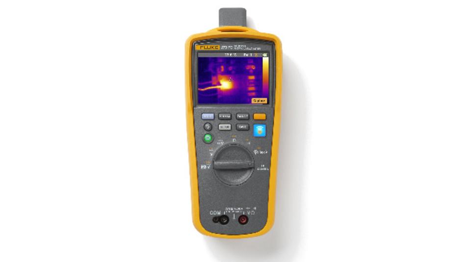 Das Fluke 279 vereint Multimeter und Wärmebildkamera.