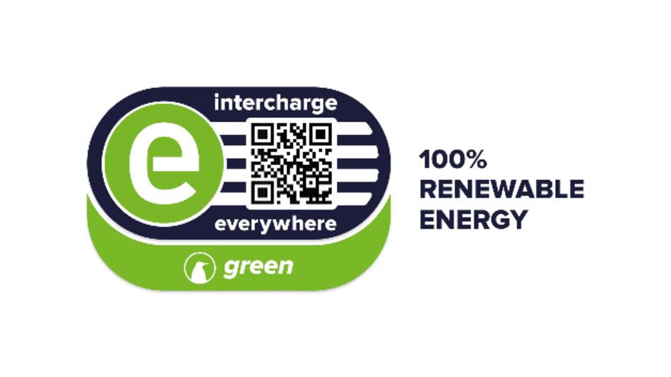Intercharge-green-Logo für Ökostrom.