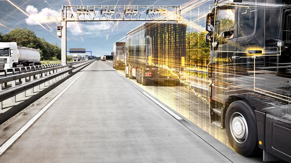 Continental arbeitet an den Grundlagen für eine Serienreife des sicheren digitalen Windschattenfahrens bis zum Jahr 2020.