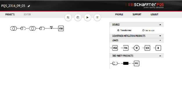 Schaffner Power Quality Simulator