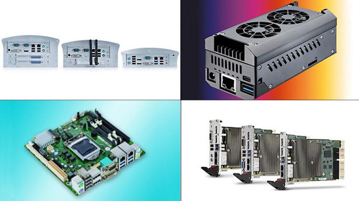 Bildcollage zu Industriecomputer-Produkten