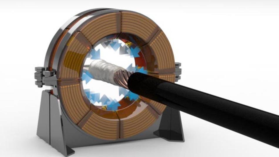 Durch die Entladung gespeicherter elektrischer Energie erzielt das MPC-Verfahren eine magnetische Verformung. Dabei wird elektrische Energie in elektromagnetische Felder umgewandelt, die in Höchstgeschwindigkeit zu einer Verpressung metallischer Verbindungskomponenten führen.