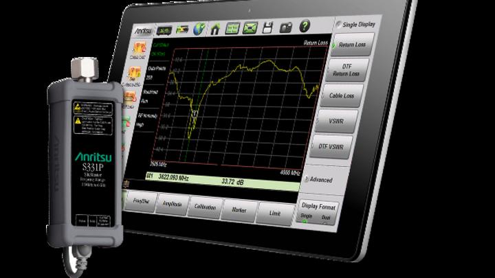 Ohne eigenen Monitor, dafür aber in ultrakompakter Bauform und mit praxisgerechten Spezifikationen: der Site Master S331P von Anritsu