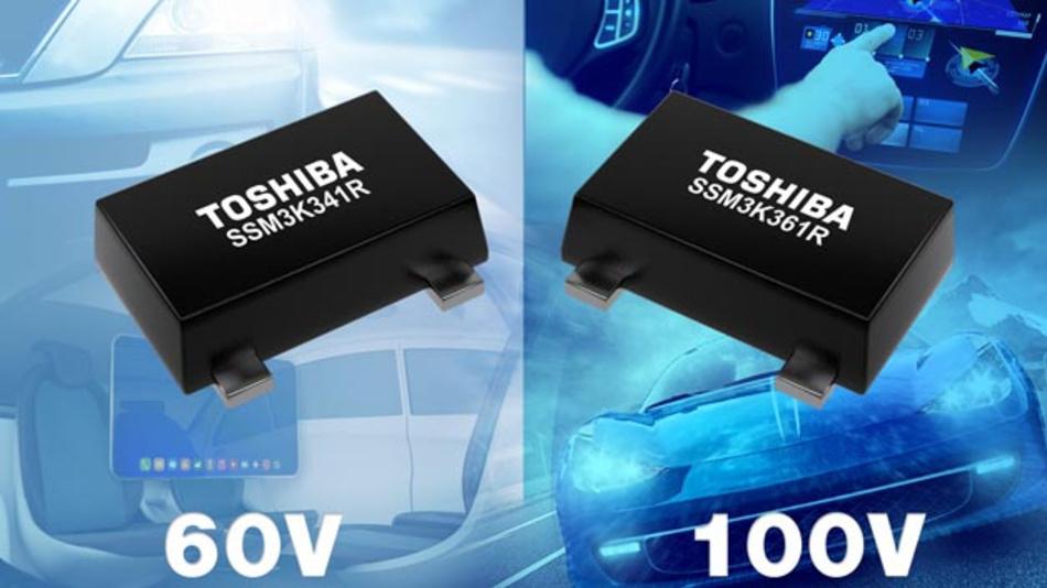 60 V N-Kanal-MOSFET SSM3K341R und 100 V 60 V N-Kanal-MOSFET SSM3K361 von Toshiba