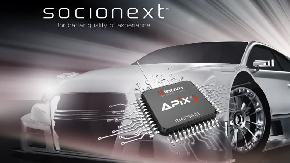 Socionext ist der erste Lizenznehmer für Inova Semiconductors neuester APIX3-Technik.