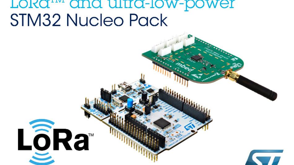 Das LoRa-Kit von STMicroelectronics basiert auf einem STM32-Microcontroller.