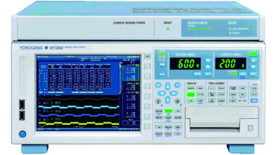 Der WT1800E von Yokogawa analysiert Spannungen und Strom bis zur 500. Ordnung.