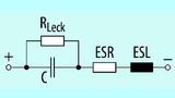 Bild 5. Das Ersatzschaltbild des Elektrolytkondensators besteht aus vier Elementen.