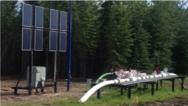 Im EFOY ProCabinet Hybridsystem kommt die Brennstoffzelle EFOY Pro 12000 Duo, gemeinsam mit Solarpanelen für 12/24- Volt-Gleichstromzum Einsatz.