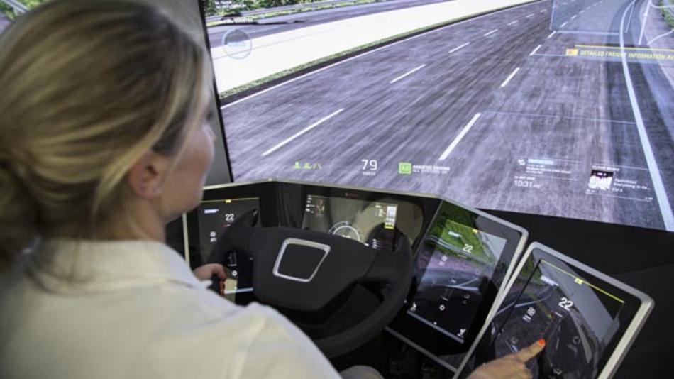 Konzeptstudie VisionX von Bosch gibt Ausblick auf die Zukunft des Lkws.