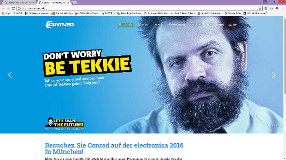 Conrad plant auf der electronica 2016 verschiedenste Aktionen