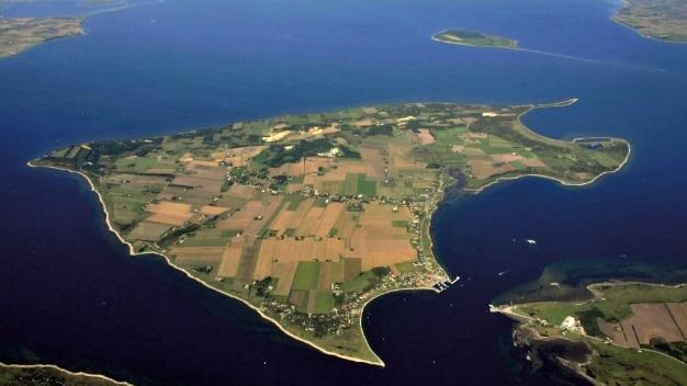 Die Insel Fur von oben.