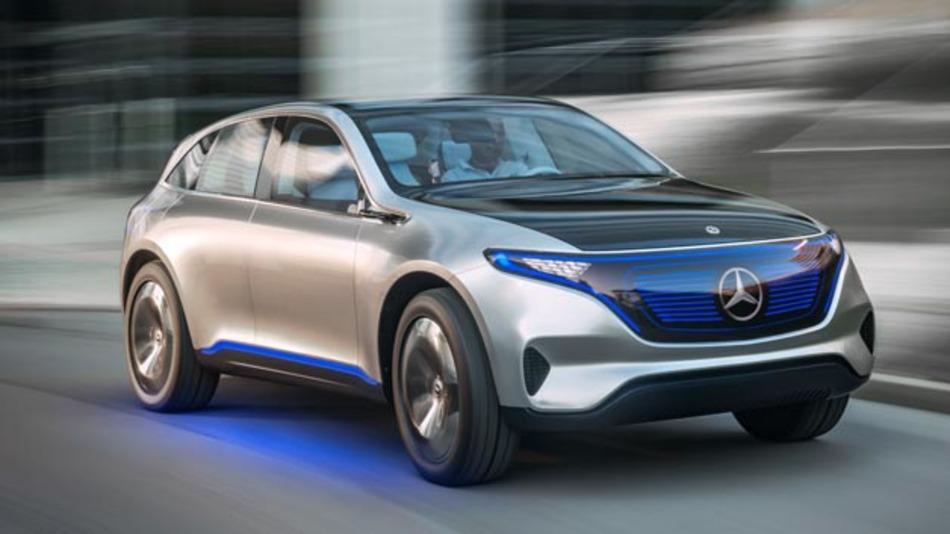 Mercedes Benz stellt sein neues Konzept EQ vor. Die Studie Generation EQ im Look eines sportlichen SUV-Coupés gibt einen Ausblick auf eine neue Fahrzeuggeneration mit batterieelektrischem Antrieb.