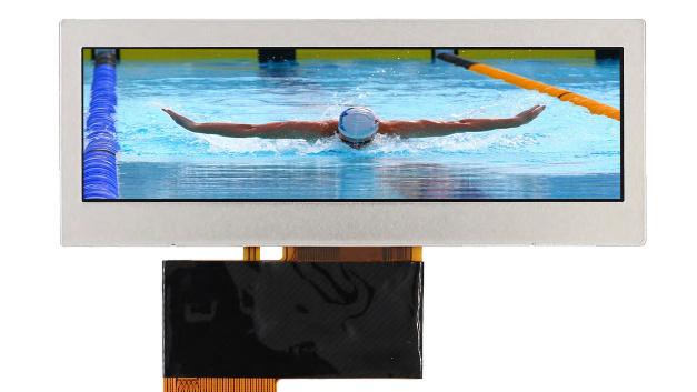 Nun auch als Standardversionen in kleineren Stückzahlen offeriert Display Solution Ultra-Wide-Stretched-TFT-Displays mit Diagonalen unter 10 Zoll.