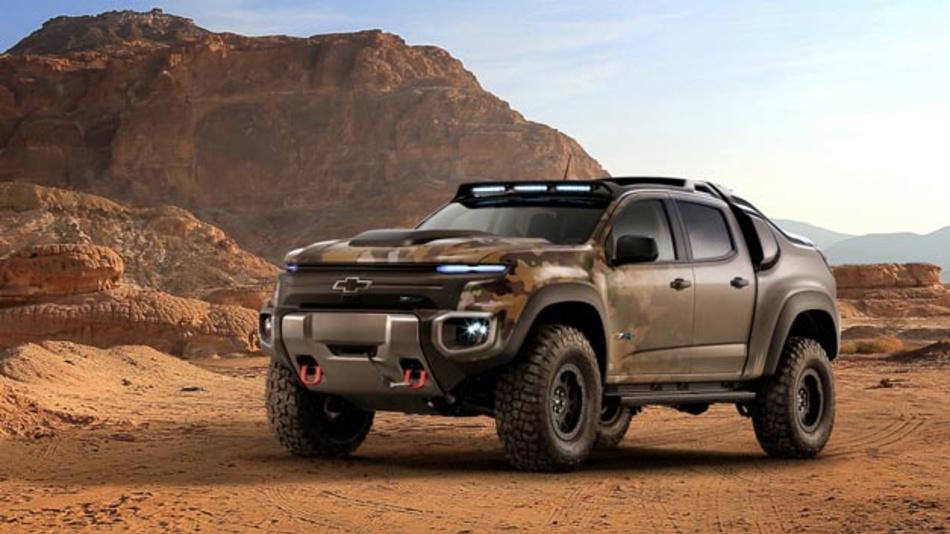 Fährt mit Wasserstoff durchs Gelände: der Chevrolet Colorado ZH2.