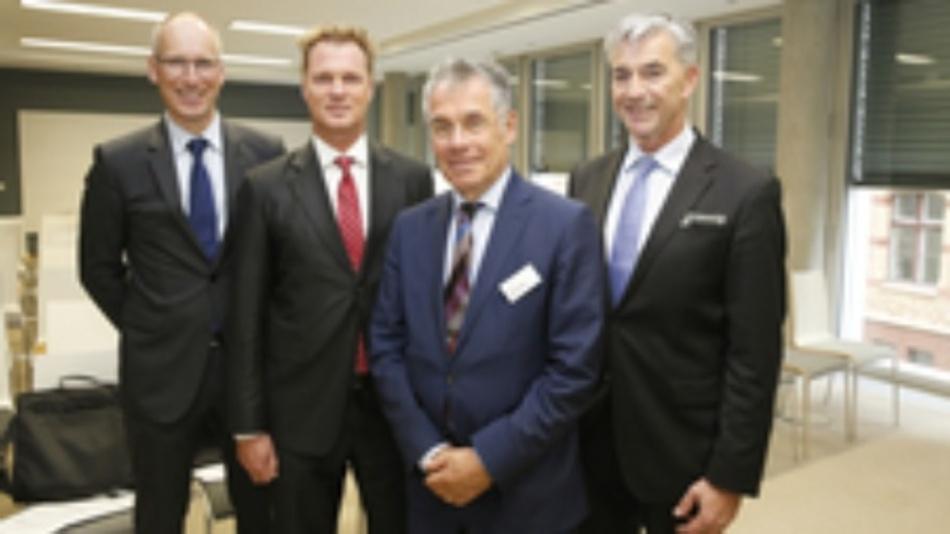 Der neue Vorstand des Branchenverbandes Spectaris (v.l.n.r.): Ulrich Krauss, André Schulte, Mathis Kuchejda, Josef May