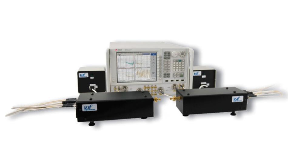 Die Mikrowellen-Netzwerkanalysatoren Keysight PNA-X erlauben zusammen mit externen Erweiterungsmodulen von VDI Messungen bis zu 1,5 THz.