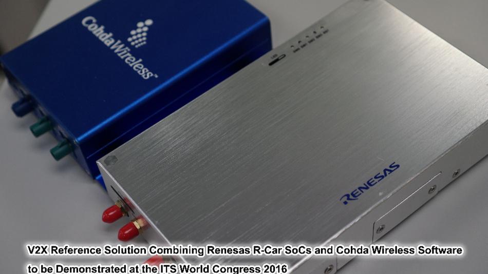 Renesas Electronics und Cohda Wireless vereinen V2X-Halbleiter und Software-Technologie zu einer V2X-Referenzlösung für das autonome Fahren.