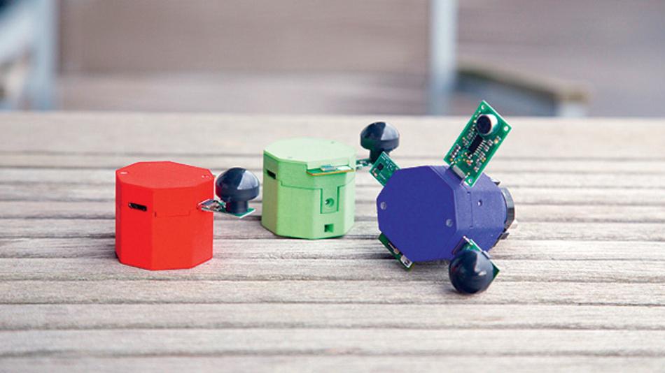 Bild 1. An die MicroPNP-Plattform lassen sich Sensoren und Aktoren als Peripherie anschließen, die in Plug-and-Play-Manier automatisch erkannt und ins Funknetzwerk eingebunden wird.