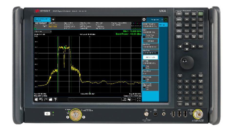 Mit den Signalanalysatoren der N9041B UXA X-Serie von Keysight wird der gesamte Frequenzbereich bis 110 GHz abgedeckt.