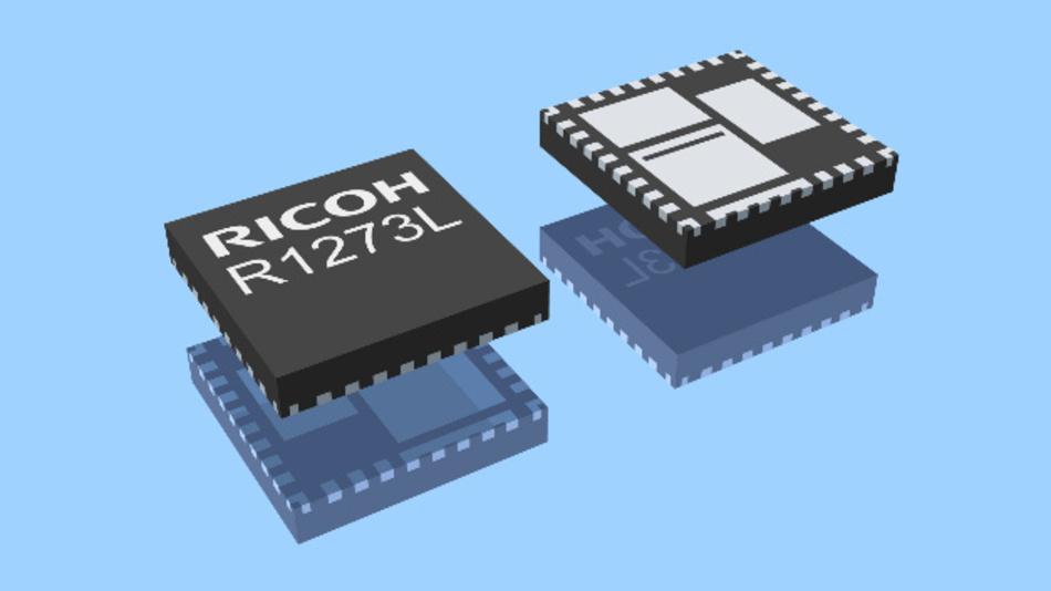 R1273L ist in einem kompakten QFN0505-32B Gehäuse verfügbar.