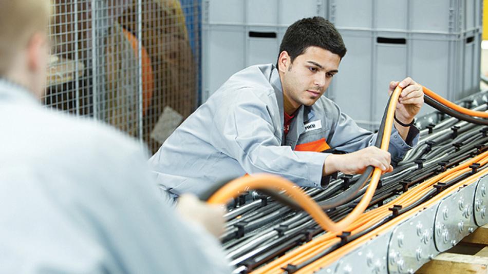 Flexibles Kabelmaterial um Hochleistungen zu liefern.