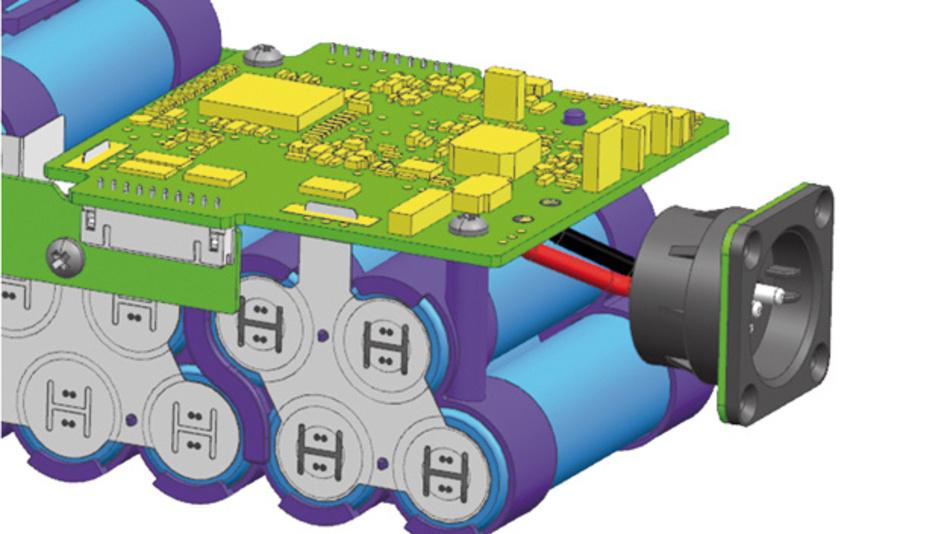 Aufbau eines Batteriepack mit Batteriemanagementsystem am Beispiel eines E-Bike-Packs von Samsung SDI, das exklusiv für OEMs von E-Bikes bei Rutronik verfügbar ist.