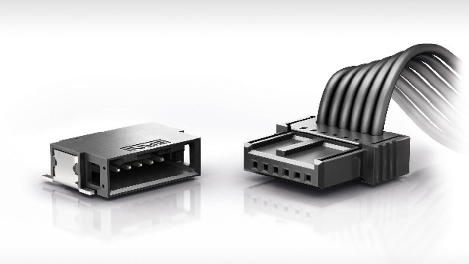 Die MicroBridge-Kabelsteckverbinderfamilie eignet sich für Anwendungen in der Automobilelektronik.
