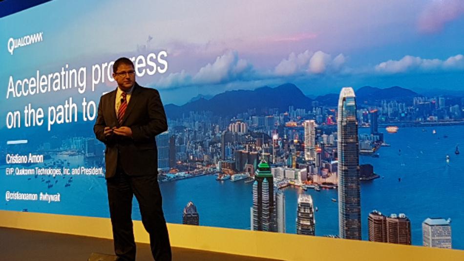 Cristiano Amon, Executive Vice President von Qualcomm Inc. und President von Qualcomm QCT, eröffnete den Reigen der Keynotes des 4G/5G Summits in Hongkong.