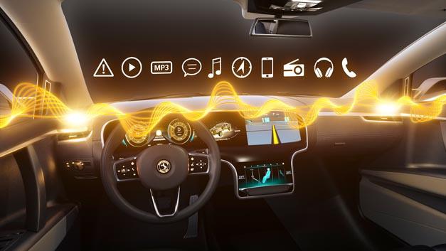 Zentrales Audio-Management integriert alle akustischen Quellen im Fahrzeug auf einem System.