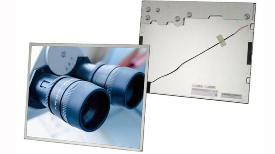Das 19 Zoll Flüssigkristall-Display hat eine Leuchtdichte von 1000 cd/m² und nimmt knapp 24 Watt Leistung auf.