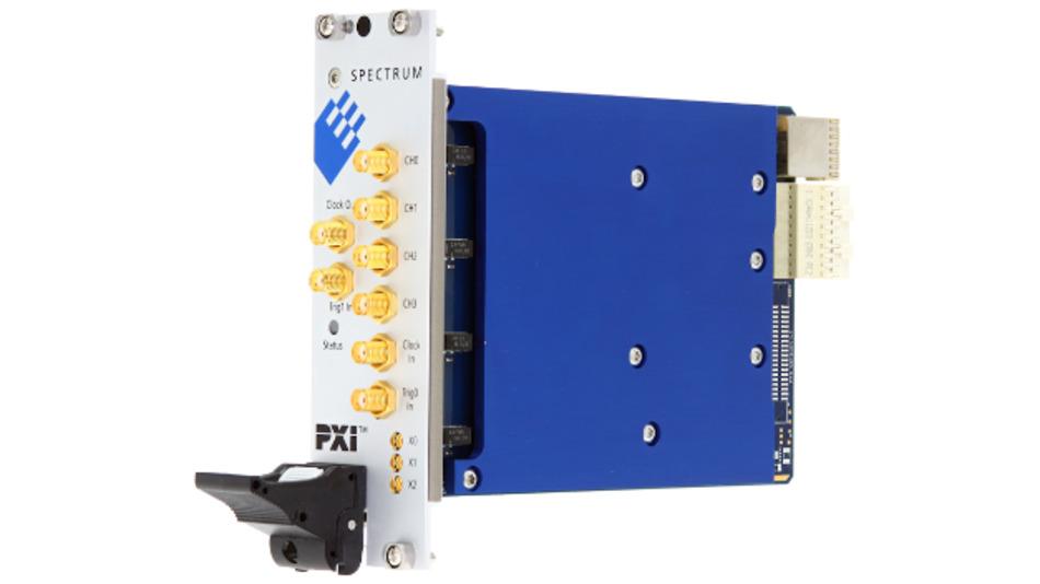 Die AWGs der M4x.66-Serie von Spectrum bieten Abtastraten von 625 MSa/s oder 1,25 GSa/s auf ein, zwei oder vier Kanälen.