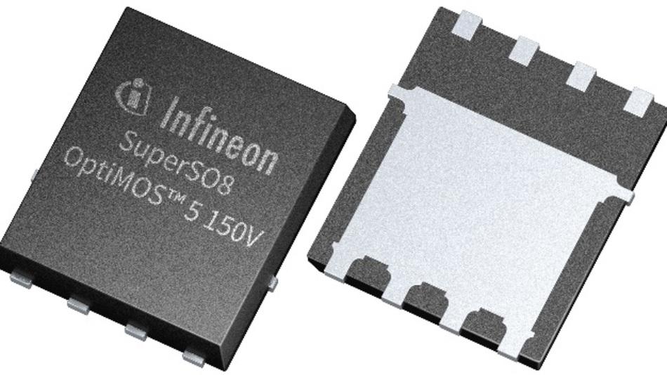 Im SuperSO8-Gehäuse weist der MOSFET einen geringeren Durchlasswiderstand und eine niedrigere Sperr-Erholladung auf als Vergleichsprodukte.