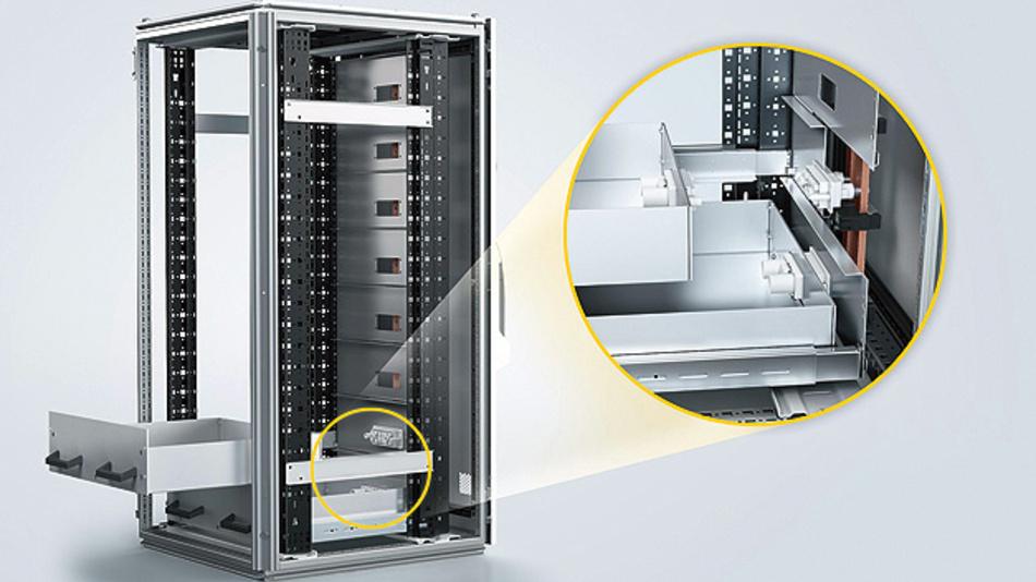 Bild 1. Speichersysteme bestehen in der Regel aus mehreren Speicherschränken, die modular zu Containern angeordnet sind und im Innern schubladenförmige Speichereinheiten enthalten.