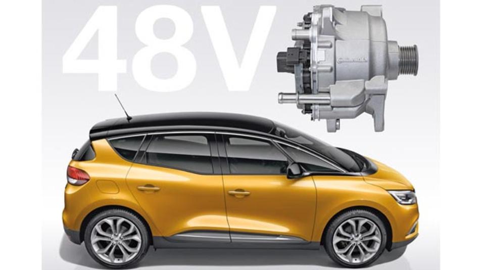 48-V-Hybrid-Antrieb von Continental im Serieneinsatz bei Renault. CO2 -Zielwert: 92 g/km