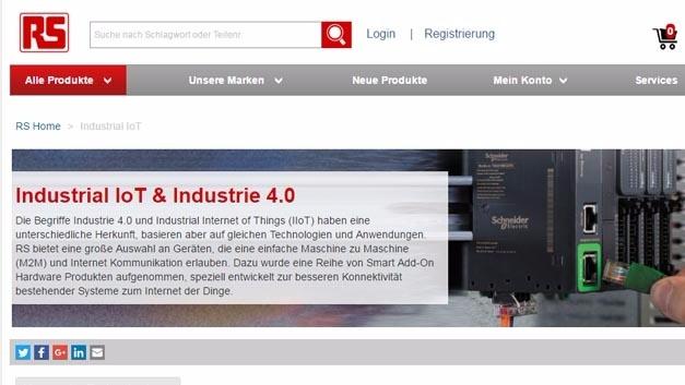 RS Components hat einen neuen Bereich auf seiner Website eingerichtet, der Geräte für das industrielle Internet zeigt.