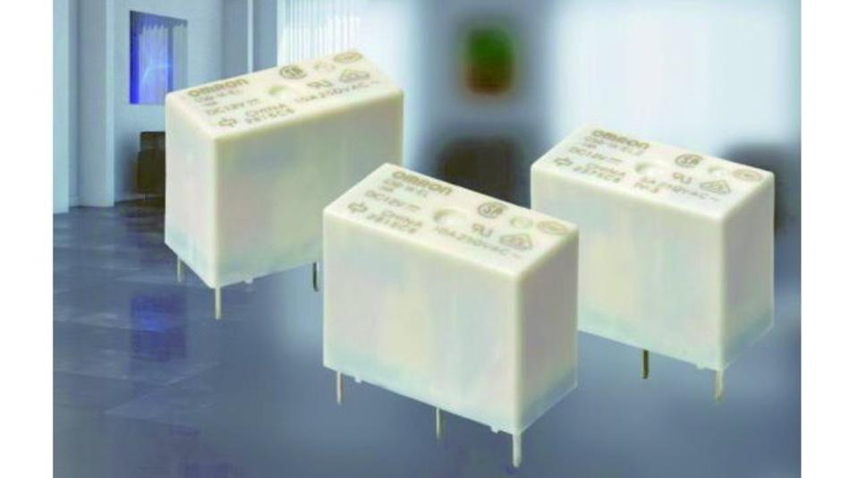 Omrons kompaktes Leistungsrelais G5Q-EL ist für 100.000 Schaltspiele bei 250 VAC und 10 A ausgelegt, der 4-fachen Haltbarkeit eines Standard-G5Q-Relais unter den gleichen Bedingungen.