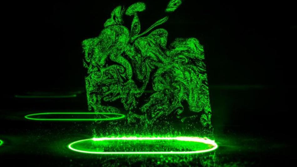 Strukturierungsprozess von Glas durch direkte Laserablation bei der Verwendung von ultrakurzen Laserpulsen.