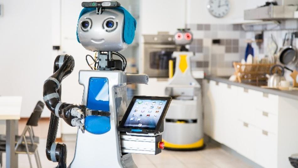 Roboter-Küchenhilfen stoßen auf großes Interesse. Hier die Küche aus dem RIF in Peccioli.