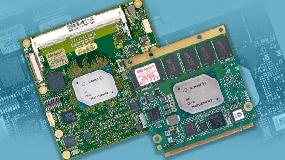 MSC bietet gleich die ganze Bandbreite an Modulbauformen an: Die neuen Apollo-Lake-Prozessoren sind auf zwei COM-Express-Modulen (Compact Typ 6 und Mini Typ 10), einem Qseven-Modul und auf zwei SMARC-Produkten (Full Size 82 x 80 mm und Short Size 82 x 50 mm) verfügbar bzw. werden demnächst verfügbar.