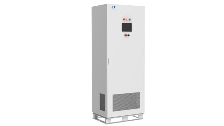 Rückspeisefähige, programmierbare AC-Quelle der Baureihe EAC-4Q-GS im Leistungsbereich von 30 kVA bis 180 kVA.
