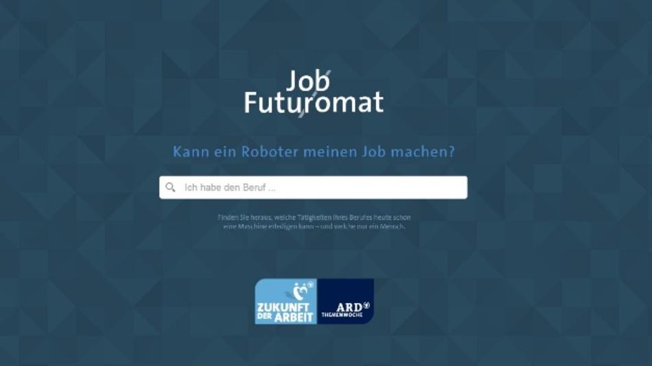 Der Job-Futuromat basiert auf den berufskundlichen Informationen für etwa 4.000 Einzelberufe aus der Expertendatenbank BERUFENET der Bundesagentur für Arbeit.