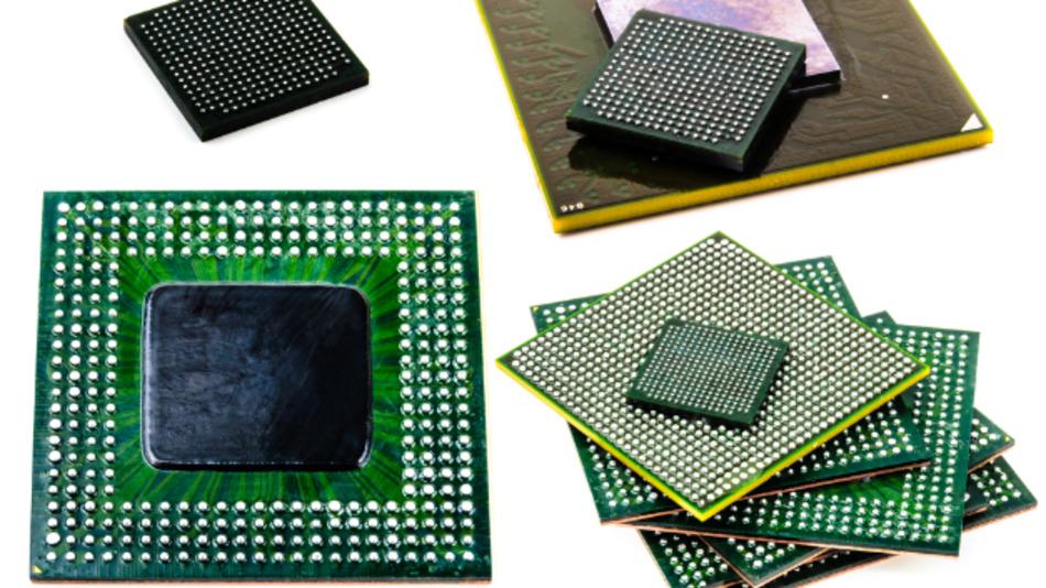 Ball Grid Arrays (BGA) sind eine weit verbreitete Variante der Leiterplattenanschlüsse von integrierten Schaltkreisen.