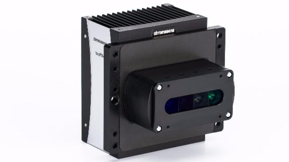 Die multispektrale Zeilenkamera von Chromasens zerlegt das Farbspektrum.