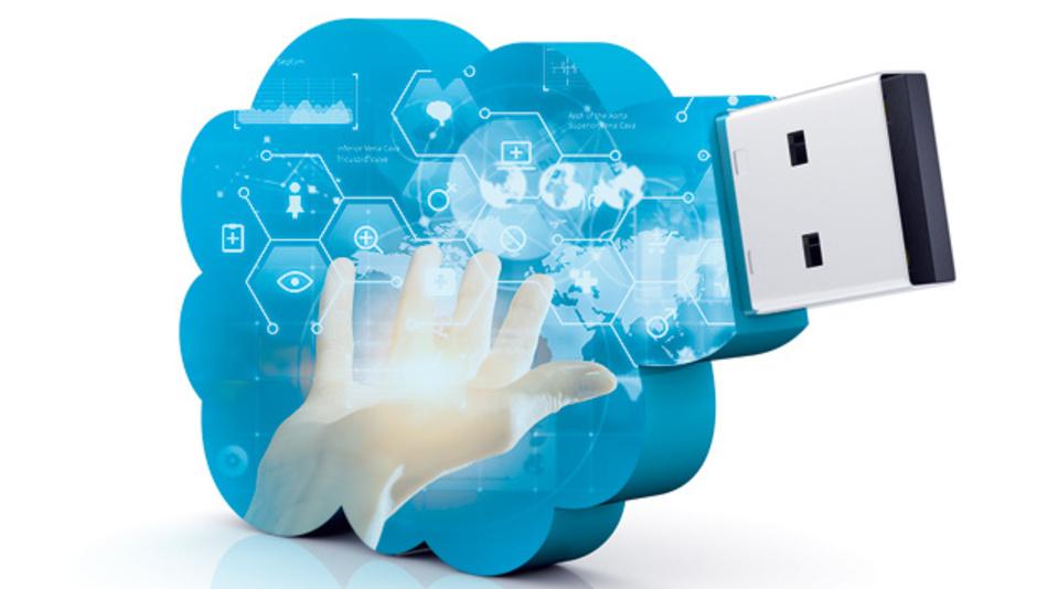 Modularer IoT-Kit-Sensor-USB-Stick mit einem Arduino-kompatiblen Gateway.