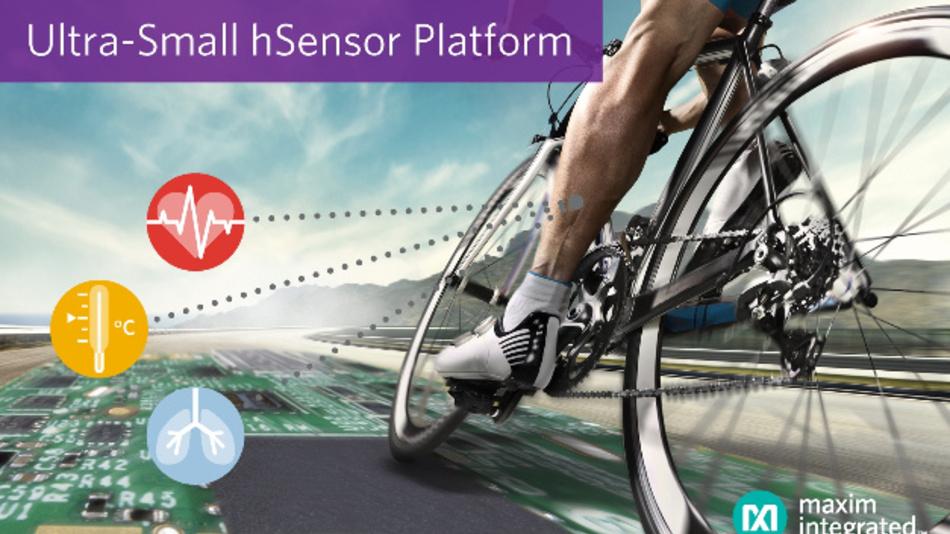 Die miniaturisierte hSensor Platform von Maxim erlaubt es, Wearables für den Gesundheits- und Fitnessbereich schnell und kostengünstig zu entwickeln