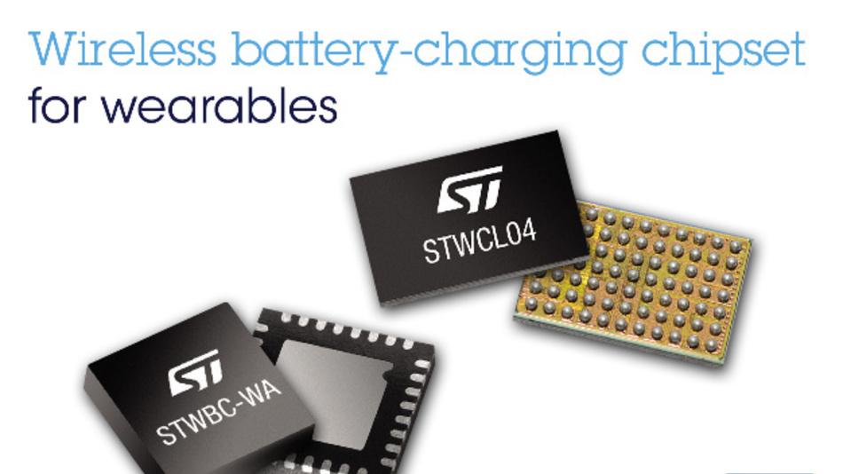 Der Wireless Battery-Charger Receiver STWLC04  von ST ermöglicht die Übertragung von Leistungen bis zu 1 W mit nur 11 mm Spulendurchmesser auf der Empfängerseite und 20 mm auf der Senderseite